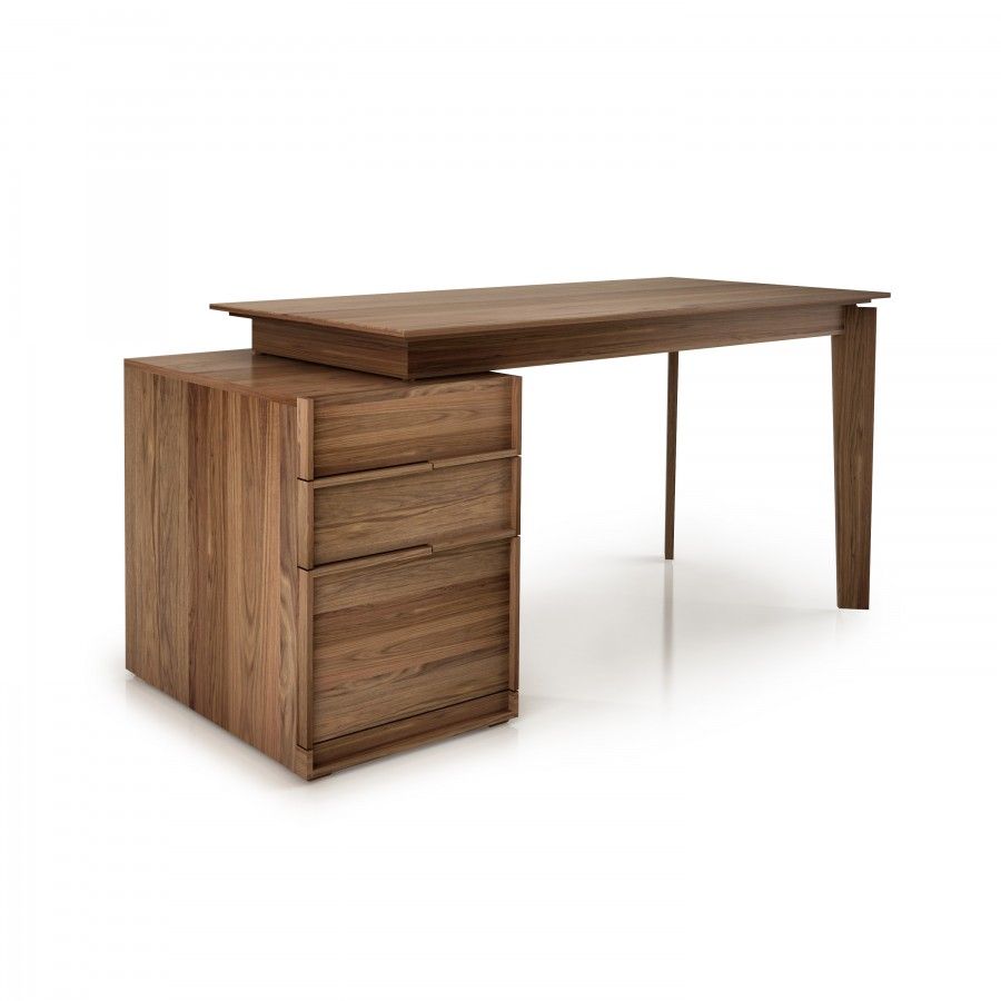Desk with top walnut